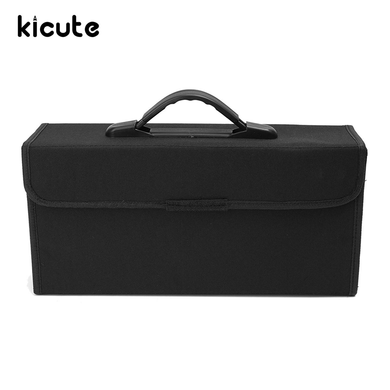Kicute 72 Slots Overvalue Art Sketch Marker Pens Case Carrying Storage Pencil Case Holders Portable Empty Box School Supply hiinst black portable and durable waterproof portable carrying storage aluminum alloy case box for spark drop aug15