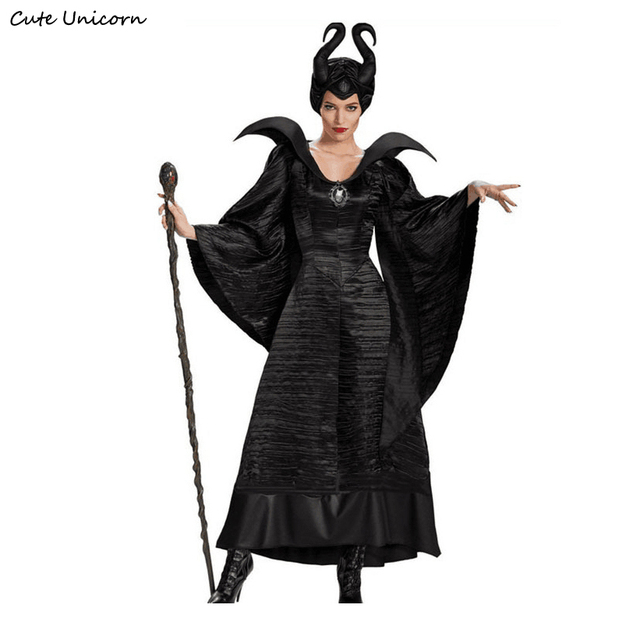 Slim Fit Maleficent Halloween Costumes for Women