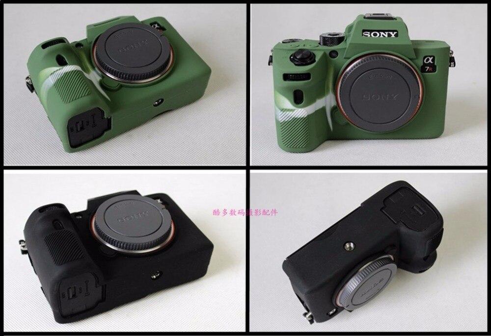 Suave caucho de silicona cámara de protección del cuerpo caso de la cubierta bolsa de piel para SONY A7III A7 marca 3 A7RM3 A7R3 III A7M3