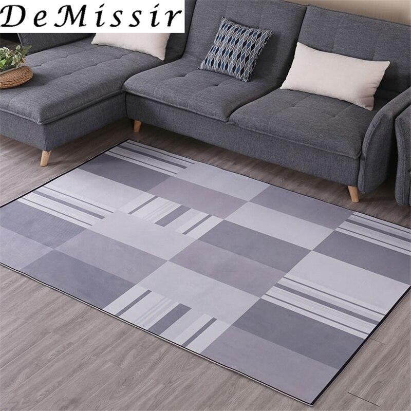 DeMissir gris géométrie antidérapant grand tapis pour salon chambre tapete para sala alfombra tapetes tapis tappeto tapis salon