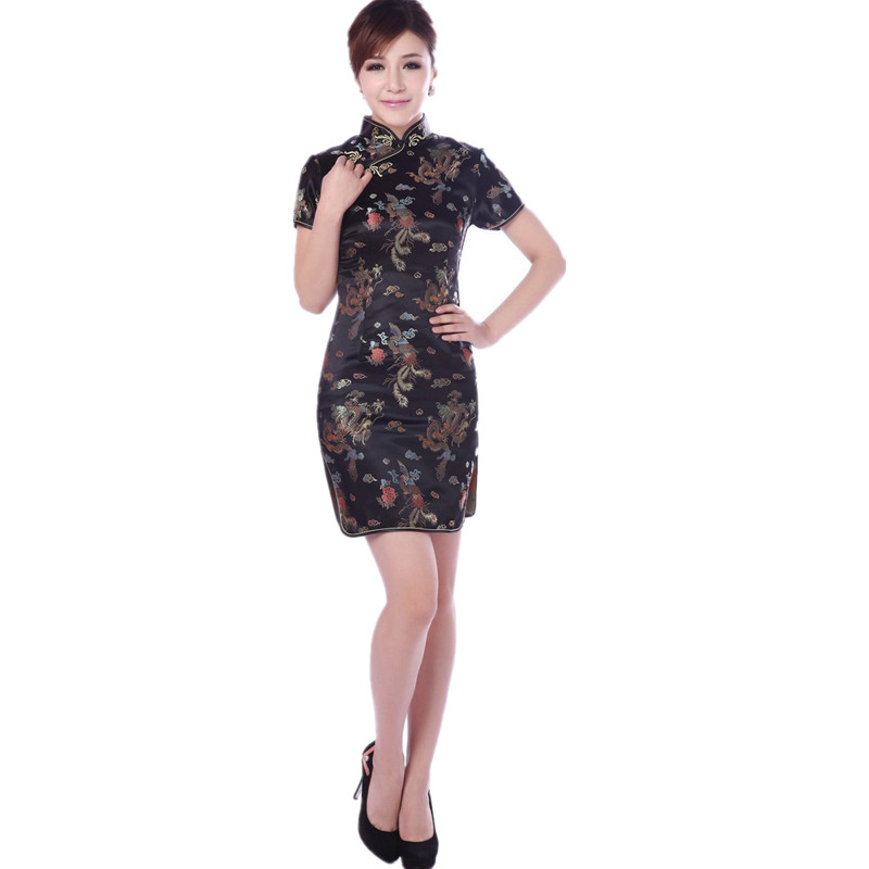 ea5e2feb3 Hot Sale Traditional Chinese Dress Women's Clothing Cheongsam Mini Qipao  Size Dragon phoenix S M L XL XXL XXXL 4XL 5XL 6XL J4060-in Dresses from  Women's ...