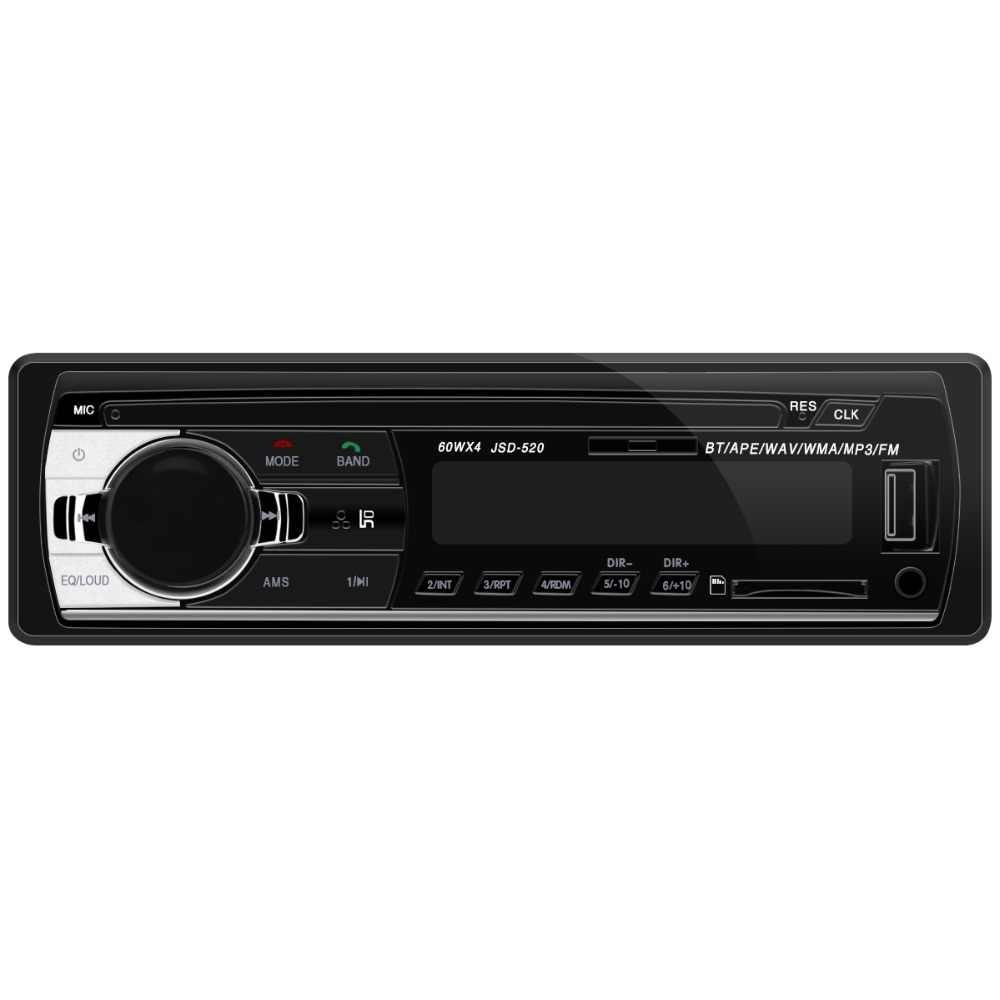 Autoradio วิทยุรถยนต์ 12 V Bluetooth V2.0 JSD520 รถ Stereo In - dash 1 Din FM Aux Input Receiver SD USB MP3 MMC WMA เครื่องเล่นวิทยุ