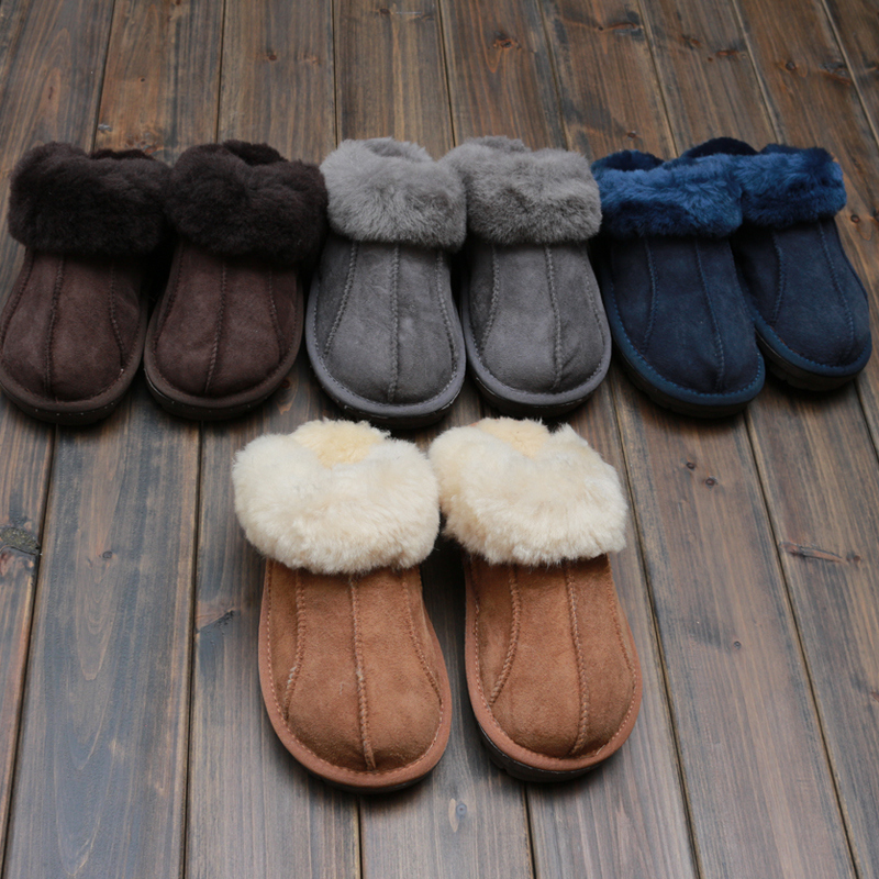 Millffy NEW Sheepskin new home slippers man slipper summer fashion Korean indoor air conditioning slippers new 2018 indoor