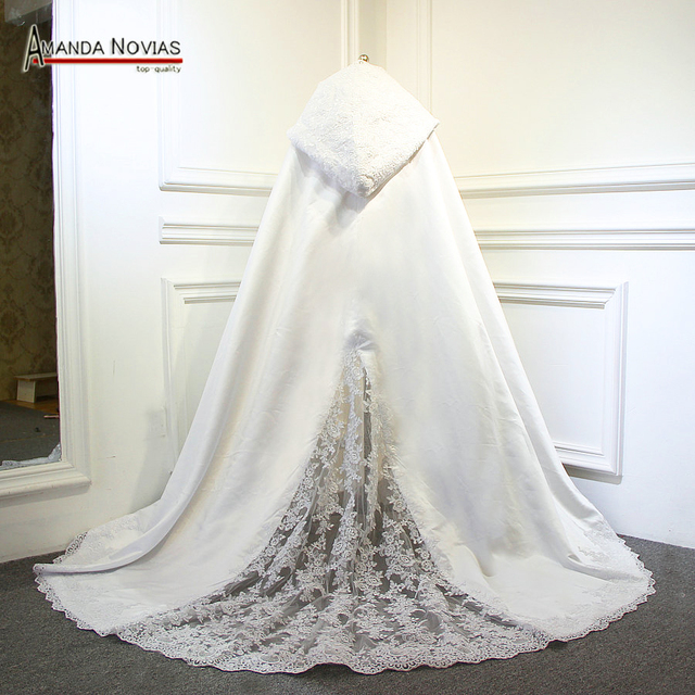 2018 lange Spitze Brautkleid Cape Hochzeit wrap Hochzeit Jacke ...