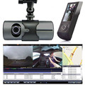 "BEST DVR X3000 Camera Dashcam 2.7"" 1080P GPS Dual Len Car DVR Vehicle Camera Video Recorder Dash Cam Dashboard Portable Recorder"