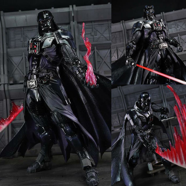 a517367a2 Play Arts Star War Black Knight Darth Vader Imperial Stormtrooper 27cm PVC  Action Figure Doll Toys Kids Gift