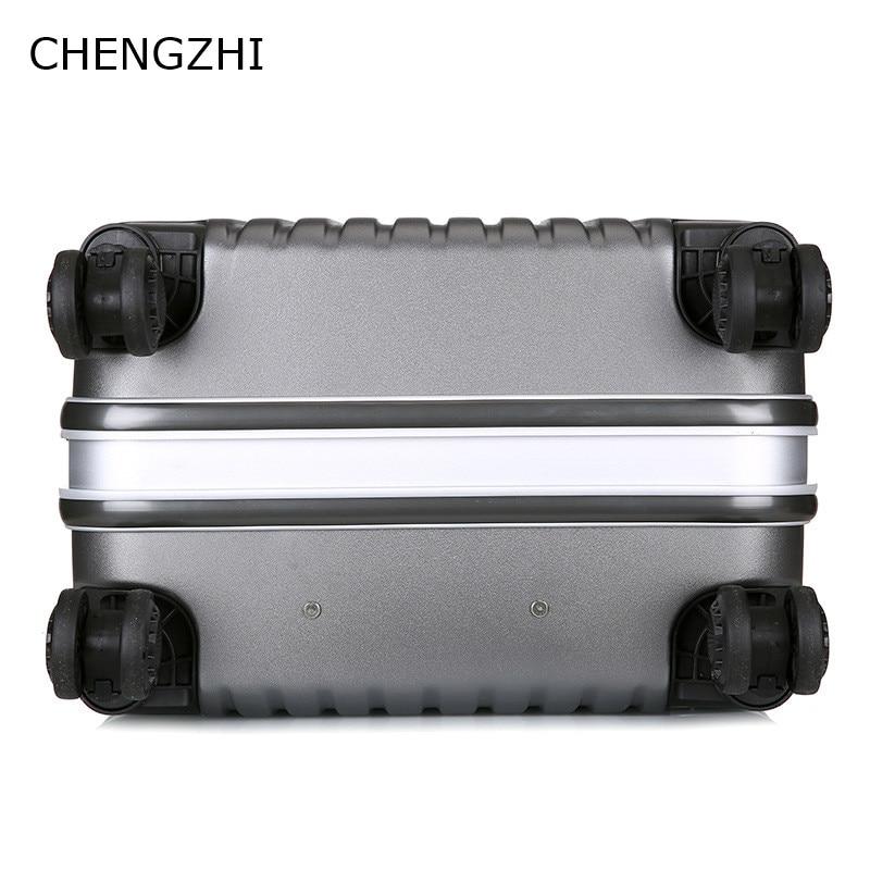 CARRYLOVE Unieke effen kleur 20/24/28 Inch size Klassieke mode handtas en Rolling Bagage Spinner merk Reizen koffer - 5