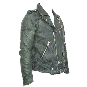 Image 4 - Maplesteed vintage curtido jaqueta de couro preto vermelho verde fino casaco de couro inverno jaqueta motociclo moto motociclista roupas 145