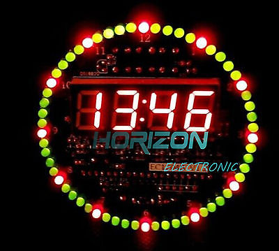 DIY DS1302 Rotating LED Electronic Digital Clock Kit 51 SCM Learning Board 5V 51 mcu learning development board experiment board ly51 sz1 diy kit diy clock electronic clock parts