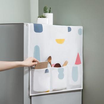 Geometric Refrigerator Cloth Single Door Dust Cover Pastoral Double Open Towel Washing Machine 1pcs - discount item  50% OFF Household Merchandises