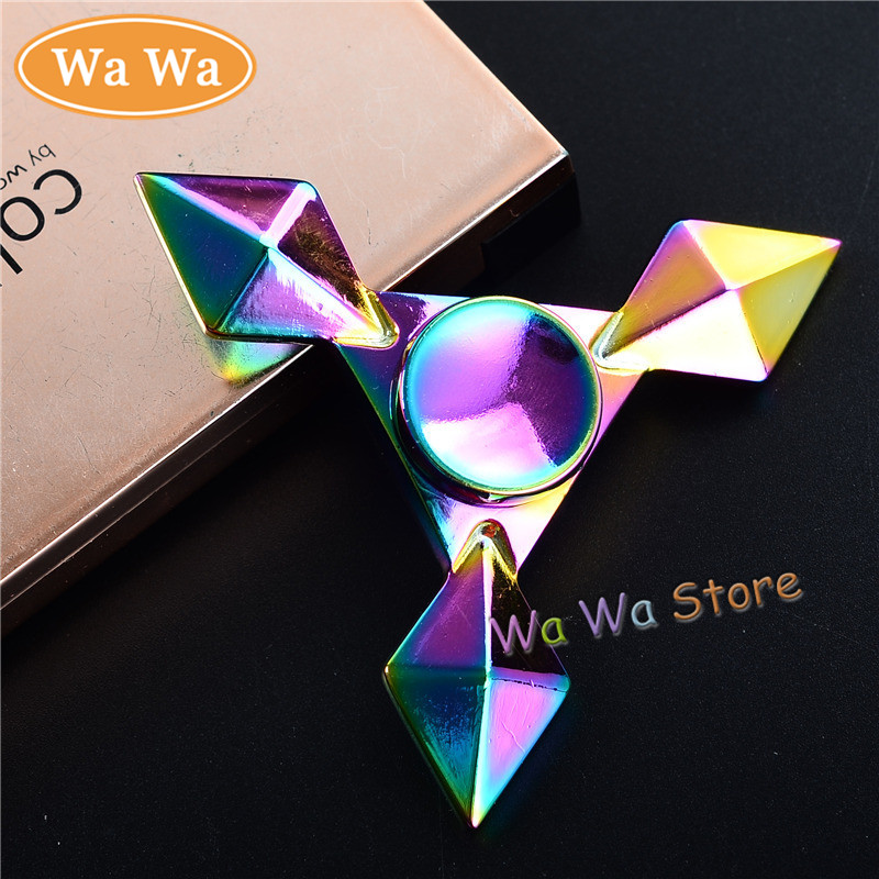 Rainbow Triangle EDC Fidget Spinner Metal Hand Spinner for Autism and ADHD Relief Focus Anxiety Stress