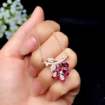 Fashion   Red Garnet gemstone collarbone  necklace for women 2
