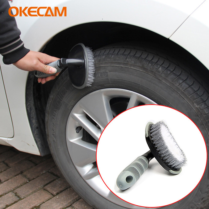 Car Wheel Tire Brush Cleaning Tools for Audi A3 A4 B6 B8 B7 B5 B9 A6 C5 C6 4F 8P 8L 8V A5 Q5 Q7 80 TT 100 A1 Q3 A8 S line A1 S3