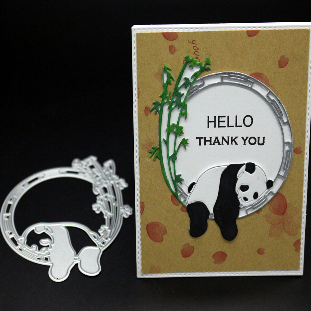 YINISE053 PANDA SCRAPBOOK Metal Cutting Dies For Scrapbooking Stencils DIY Album Paper Cards Decoration Embossing Folder Die CUT