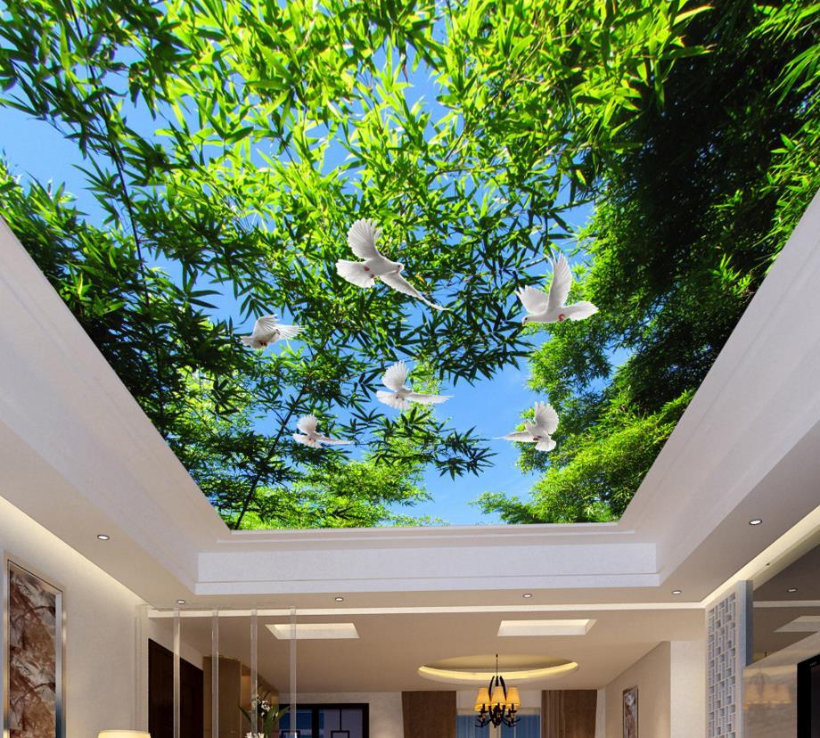 Custom Large 3d Bamboo Ceiling Hd Fantasy Wonderful