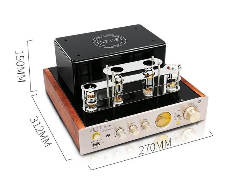 XEGE DC2 HiFi Stereo Wireless Bluetooth USB Tube Amplifier Headphone Amplifier 25W+25W wl finished hifi black gold commemorative edition lm1875 stero amplifier 25w 25w