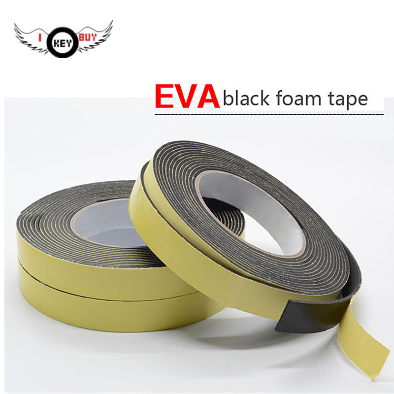 Free Shipping 5M Speaker EVA Black Sponge Foam Tape Window Vent Strong Adhesion Anti-collision Adhesive Tapes Width 10 MM