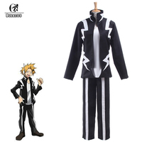 ROLECOS 2018 New Japanese Anime My Hero Academia Cosplay Costume Kaminari Denki Combat Clothing Unisex for Cosplay Costumes