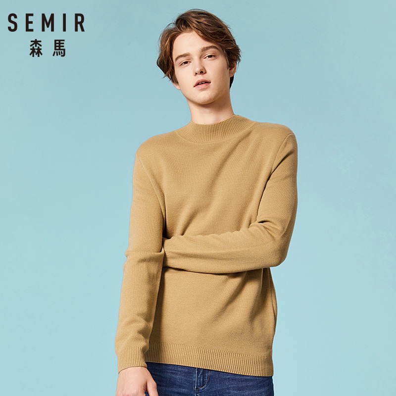 SEMIR Brand Sweaters Men Pullover Woolen Slim Fit Jumpers Knitted Warm Thick Autumn Korean Style Casual Clothes Men DownWear