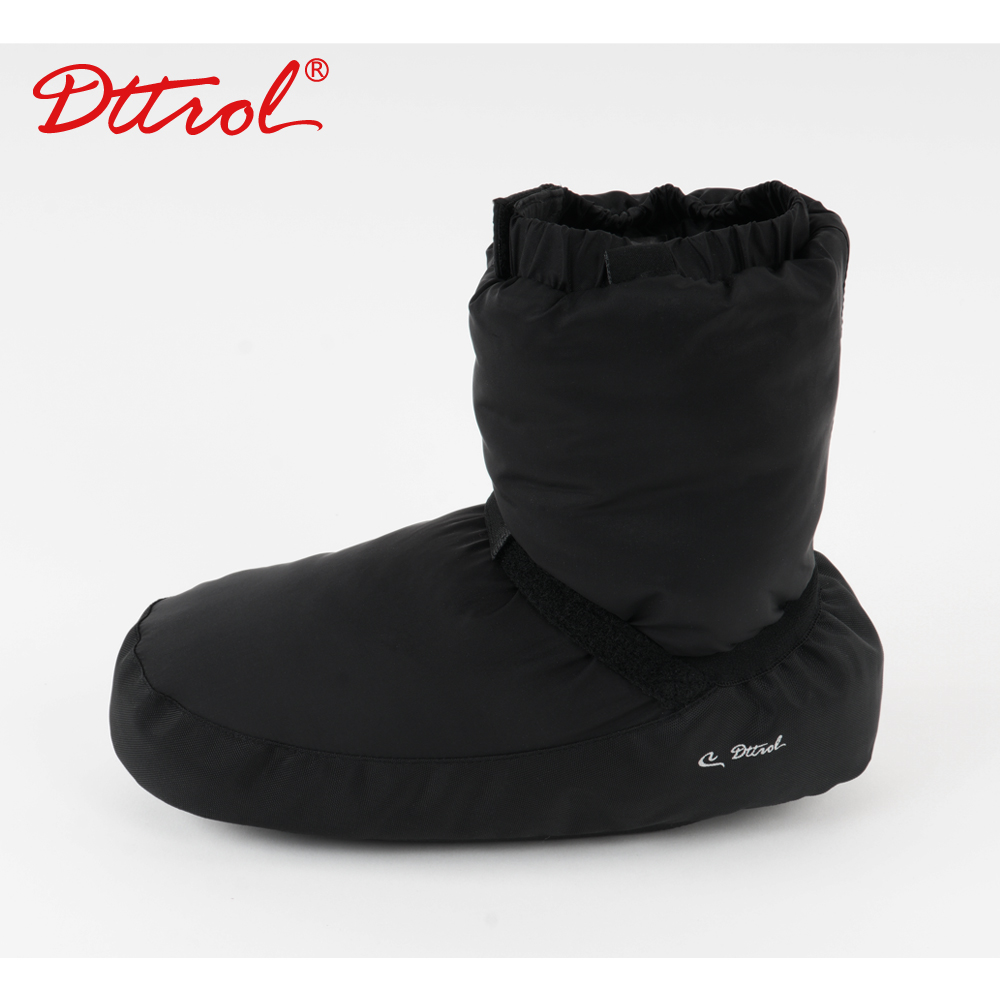 Black/Purple <font><b>Dance</b></font> Apparel Girls Ballet Point Warm Shoes Ballet Castle Flo Ballet <font><b>Dance</b></font> Warm Boot Ballerina Warm-up Booties image