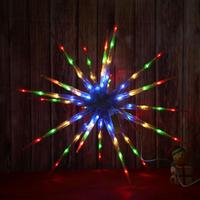 Snowflake Ball Shaped with Thorns LED Light Outdoor Indoor Holiday Garden Decoration Lamp For Christmas Lighting