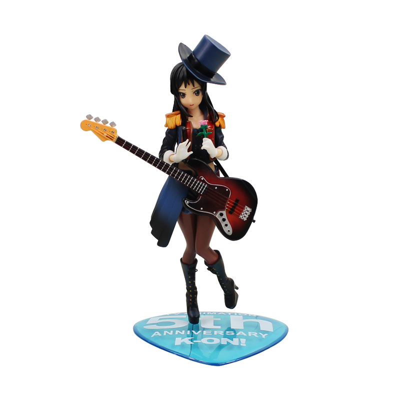 18cm New Arrival K-on! Anime Akiyama Mio 5th Anniversary Ver. 1/7 Scale Painted PVC Action Figure Model Toys Doll Birthday Gift durarara ii izaya orihara 1 8 scale painted psychedelic ver doll acgn anime pvc action figure collectible model toy 17cmkt2981