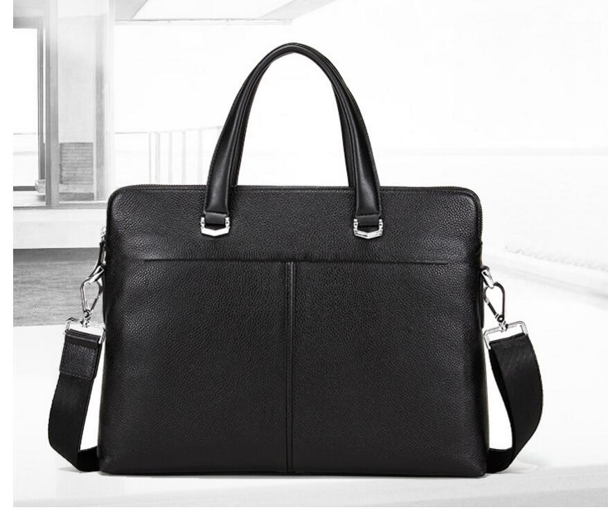Di modo dei nuovi uomini di Cuoio di affari del sacchetto valigetta borsa borsa del computer casualeDi modo dei nuovi uomini di Cuoio di affari del sacchetto valigetta borsa borsa del computer casuale