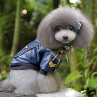 Pet Leather Jacket For Dog Clothes Pet Dog Winter Coats Jackets Coat Clothes For Dogs S