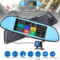 7 Inch Car DVR HD 1080P Screen Display Video Recorder Car Driving Recorder Rearview Mirror Camera