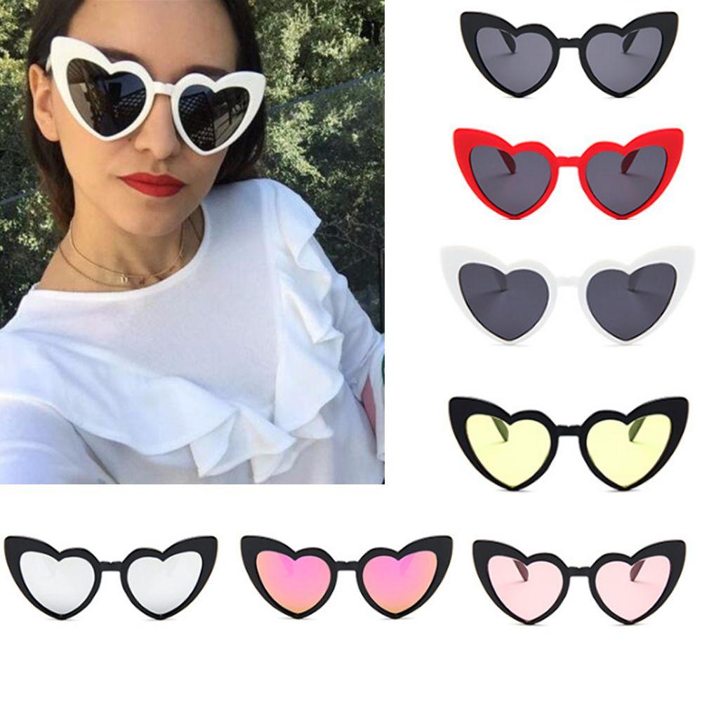 Sekinew novo amor senhoras óculos de sol bonito coração tendência em forma de coração óculos de motorista