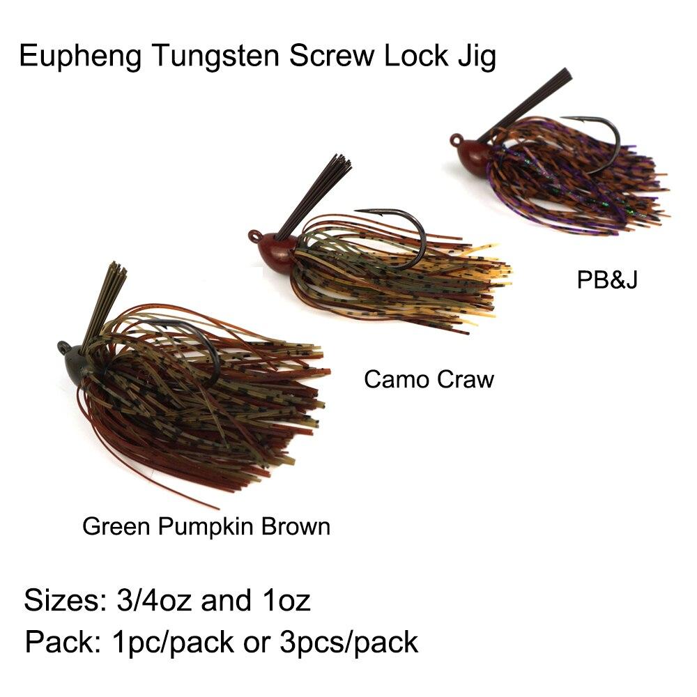 Eupheng Tungsten Screw Lock Bass Jig Head Extreme Heavy Cover Jig Unique Design Bass Lure Tungsten Head Fishing Hook With Head eden e300 bass head