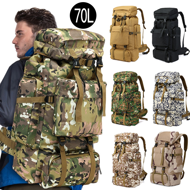 70L Waterproof Outdoor Military Large Hiking Climbing Backpacks Camouflage Pocket Backpack Sports Bags Camping Travel Backpack70L Waterproof Outdoor Military Large Hiking Climbing Backpacks Camouflage Pocket Backpack Sports Bags Camping Travel Backpack