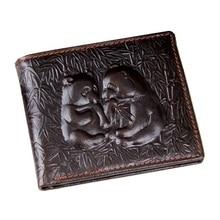 hot deal buy miwind genuine leather men wallets famous brand male wallet for business man brown color short wallets men clutch wallets