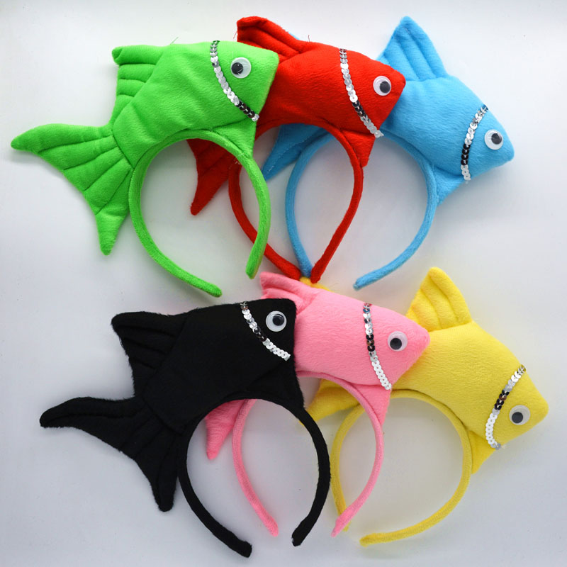 Animal Ocean Sea Fish Headband Kids Adults Boy Girl Cosplay   Headwear   Birthday Party Hair Accessories Halloween Christmas