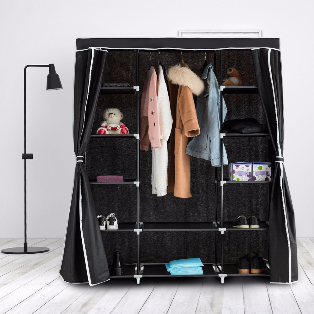 Giantex Tragbare Kleiderschrank Vlies Kleiderschrank Lagerung ...