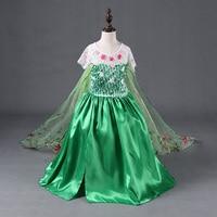 2015 Children S Cartoon Princess Anna Elsa Girl Dress Fashion Show Children Party Dress Baby Lace