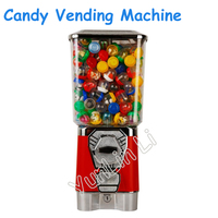 Candy Vending Machine Gumball Machine Toy Capsule/ Bouncing Ball Vending Machine Candy Dispenser with Coin Box GV18F
