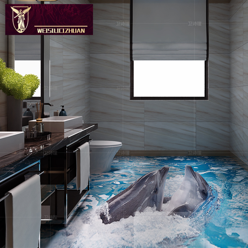 export products best quality dolphin 3d floor tiles bathroom 3d ceramic kitchen tile non slip floor 16 originality glazed tiles on aliexpress com   alibaba     export products best quality dolphin 3d floor tiles bathroom 3d      rh   aliexpress com