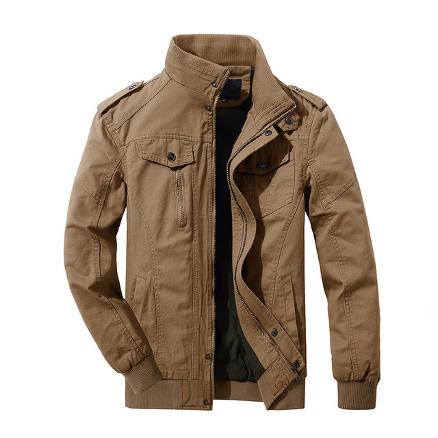 MAGCOMSEN Jacekt Men Autumn Casual Cargo Jackets Military Army Tactical Jacket for Men Casual Cotton Bomber Jacket Coat SSFC-36 3