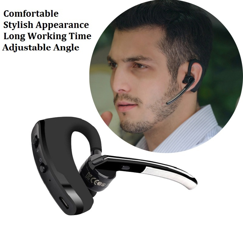 New Design Business Mini Bluetooth Earphone Stereo Ear Hook Car Drivers Handsfree Wireless Headphone with Mic for Mobile Phones new dacom carkit mini bluetooth headset wireless earphone mic with usb car charger for iphone airpods android huawei smartphone