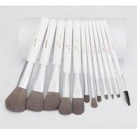 MSQ 12pcs Professional Makeup Brushes Set Powder Foundation Eyeshadow Eyeliner Lip Charcoal Fiber Brush Tool With
