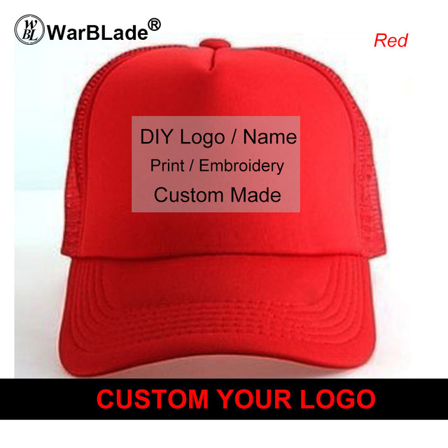 Custom Trucker Hat Flat Bill Visor Free