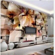 beibehang wall paper papel de parede Custom wallpaper - woven fabric fantasy flowers 3D stereoscopic true 3D wallpaper