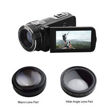 "Full HD Camcorder True 1080p @ 30fps Max 24.zero MP Full Shade Display screen For Low gentle Digital Video Digicam three.zero"" 16x Zoom DV Recorder"