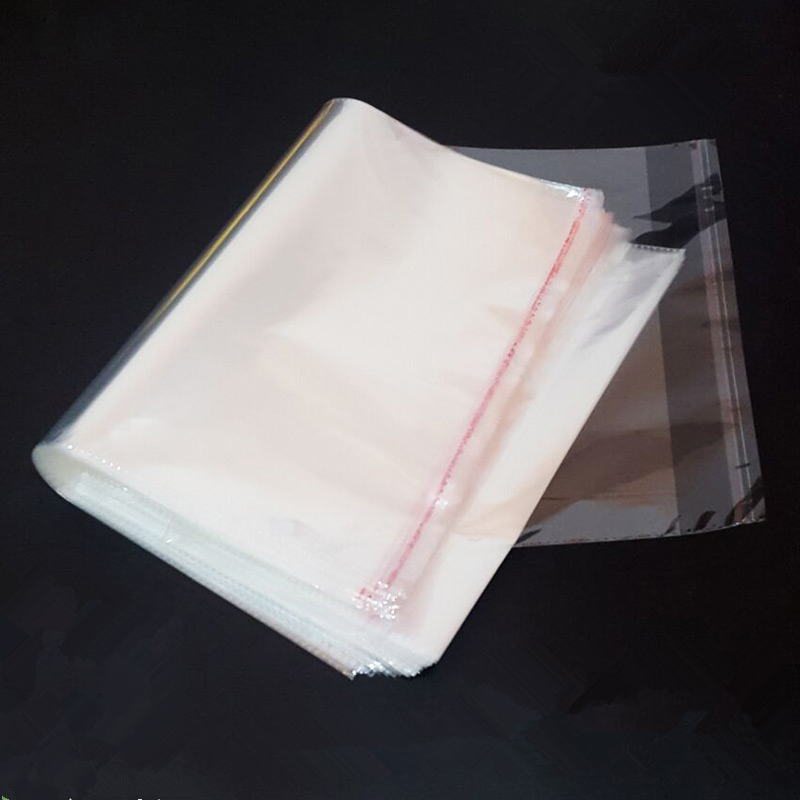 (100 Pieces/lot) OPP Self-adhesive Packaging Bag Transparent Plastic Bags