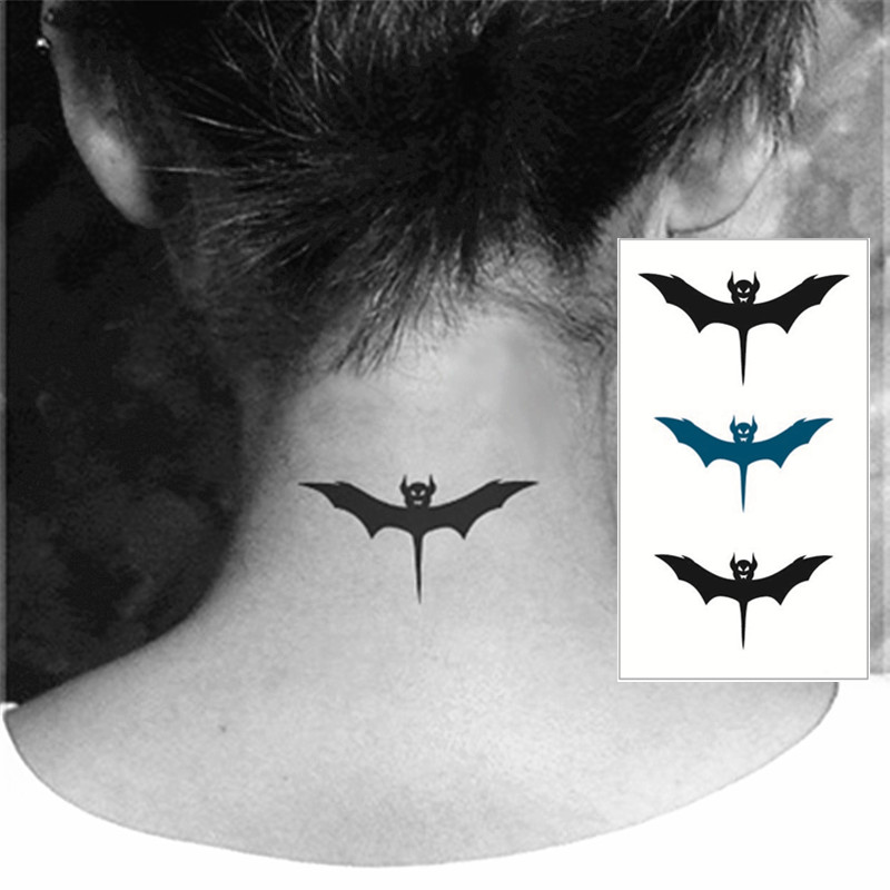Cute Bat Flash Tattoo Hand Sticker 10 5 6cm Small Waterproof Henna
