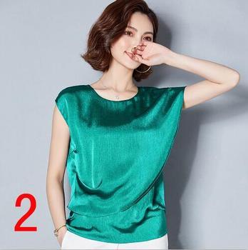 Neue J62650 Frauen Shirt Sommer Einfarbig Unregelmäßigen Kurzarm Chiffon Lose Große größe Frauen O Neck Shirt