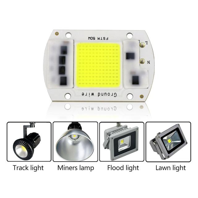 LED COB Lamp Chip 5W 20W 30W 50W 220V 110V Input Smart IC Driver Fit For DIY LED Floodlight Spotlight Cold/Warm White