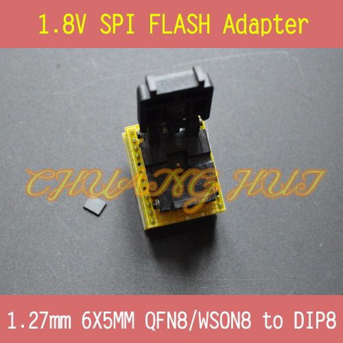 1.8V adapter for Iphone or motherboard 1.8V SPI Flash 6X5mm WSON8 W25 MX25 can use on programmers such as TL866CS TL866A