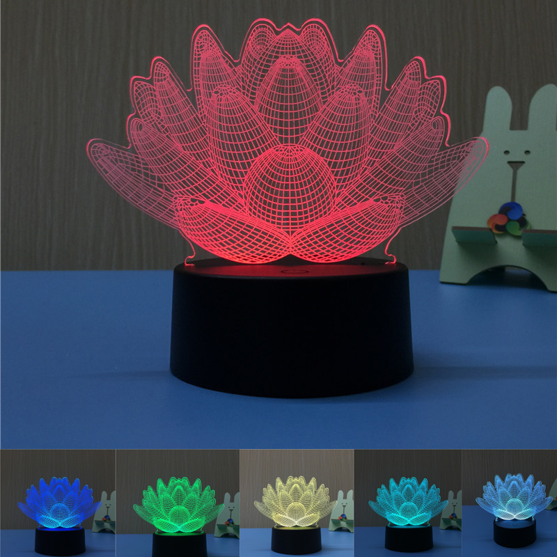 3D LED Desk Table Lamp USB Novelty Gifts 7 Colors Changing Basketball Led  Night Lights As Home Decoration Cheap Wholesale